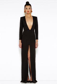 Patsy Black Long Sleeved Maxi Dress  £170