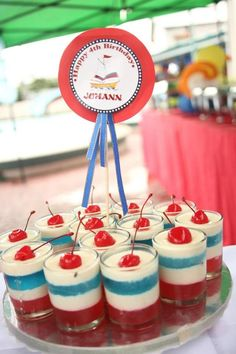 Love the sailor theme for the ice cream cups Sailor Theme Parties, Sailor Party, 4th Birthday Parties, Fun Party Themes, Party Ideas, Sailor Baby Showers, Sailor Birthday, Fiesta Baby Shower, Nautical Party