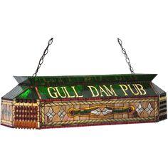 40 Inch L Personalized Gull Dam Pub Oblong Pendant - Custom Made