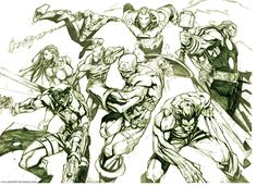 here are some more stuff i did the past year. some characters from the uncanny x-men thanks for taking a look Marvel ©