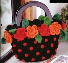 Crochet Bag  I love it!!  I want to make one