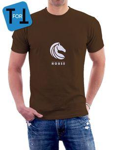 HORSE T-shirt marron pour les amoureux des chevaux et équitation - Tshirt homme de la boutique teeFORtea sur Etsy