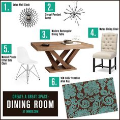 Create a Great Space: Dining Room!