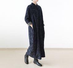 Thicken cashmere buckle texture flok robe   #dress #linen #robe #longdress #linendress