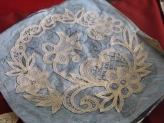 Joanna Stachura Mazeda from a lace day Needle Lace, Bobbin Lace, Types Of Lace, Point Lace, Bruges, Linens, Tape, Handmade, Bobbin Lacemaking
