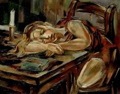 "Maria Blanchard (1881 - 1932) ""Fillette endormie"""