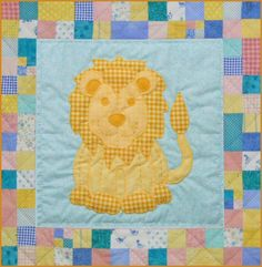 Stuffies Leo the Lion Baby Quilt Pattern