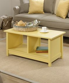 Melon Yellow Coffee Table #zulily #zulilyfinds