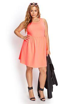 Plus Size Neon Skater Dress | Forever 21 PLUS