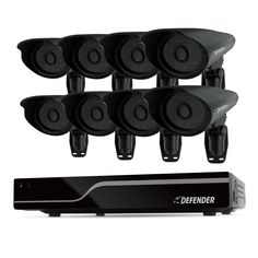 Defender PRO Sentinel 8CH Smart Security DVR with 8 Ultra Hi-res Outdoor Surveillance Cameras (21113)-- The natural choice for installers and contractors and those who demand ultimate peace of mind, Defender® PRO can protect you or your clientâs investment and keep your building safe and crime-free.