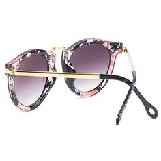 HuaYang Nouveau unisexe rétro lunettes de soleil d'aviateur verres(fleur): Amazon.fr: Jeux et Jouets