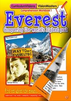 Read a story about climbing Mt Everest  then answer the comprehension questions  Perfect for connecting geography topics to reading skills at Pinterest