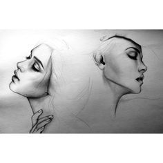 Portrait Pencil Drawings by Romanian Artist Alexa M. Anton ❤ liked on Polyvore