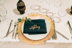 Our personalized laser cut wood name signs by LetsTieTheKnot on Etsy! // Perfect for bridal showers, weddings, engagement parties, use them as place-cards, or for any special event!