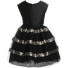 Black Tulle Sequined Dress