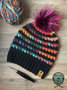 Crochet Crafts, Crochet Yarn, Yarn Crafts, Crochet Projects, Crotchet, Bonnet Crochet, Crochet Beanie Pattern, Loom Knitting, Knitting Patterns