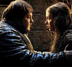 Game of Thrones (series 2011 - ) Starring: John Bradley as Samwell Tarly and Hannah Murray as Gilly. (animated gif)