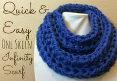 Quick & Easy, One Skein Infinity Scarf - A free pattern to make yourself a crochet scarf...or a last minute gift for someone else!