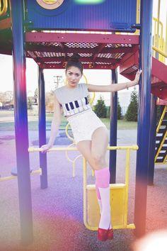 Znalezione obrazy dla zapytania fashion photoshoot playground
