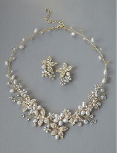 Affordable Elegance Bridal - Gold Freshwater Pearl and Rhinestone Wedding Jewelry Set , $89.49 (http://www.affordableelegancebridal.com/gold-freshwater-pearl-and-rhinestone-wedding-jewelry-set/)