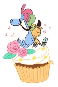 Wander & Sylvia on a cupcake. By celebi9