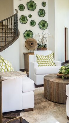 Modern Paradise - Kathy Ann Abell Interiors   San Diego, Califronia   Seating Area   Living room   Reclaimed Wood   Petrified Wood   Succulents