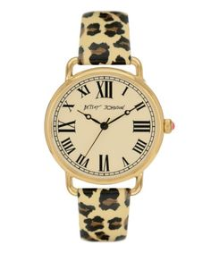 cheetah strap and roman numerals? yes please.