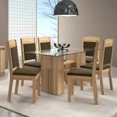 Glass Dining Table, Wooden Dining Table Designs, Modern Dining Room, Dining Table Design Modern, Wooden Dining Tables, Glass Dining Table Designs, Dining Furniture Sets, Dining Room Furniture Design, Dining Table Design