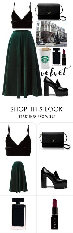 """Velvet"" by karina-r11 ❤ liked on Polyvore featuring T By Alexander Wang, Kate Spade, MM6 Maison Margiela, Mulberry, Narciso Rodriguez, Smashbox and vintage"