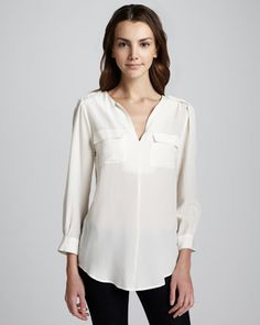 e3a9e691a71889 7 Best Obsessed with... Silk Shirt images
