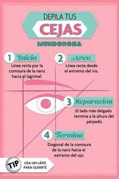Dale forma a tus cejas. Son el marco de tus ojos, y también de tus lentes.