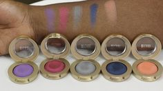 Milani Cosmetics Bella Eyeshadow Swatches! To see all of them with the names of each one, please visit my blog!