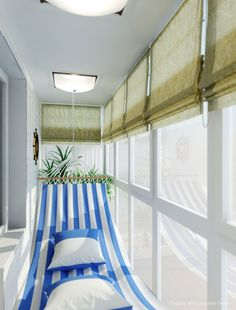 Balcony with Harming Hammock at Small Apartment Interior Design (If I get the enclosed balcony apartment)