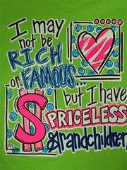 Southern Chics Funny Priceless Grandchildren Grandma Nana Girlie Brigh | SimplyCuteTees