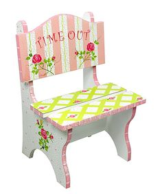 Look at this Crackled Rose 'Time Out' Chair on #zulily today!