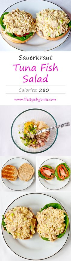 Lifestyle by Joules - Healthy tuna fish salad with sauerkraut and sour cream. Great for work and school lunches!