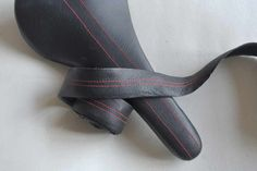 Selle Italia SLR. Black leather, red stitching. Matching bar-tape.