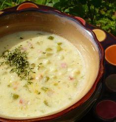 Cream soup with ham - Karfiolkrémleves sonkával - Kifőztük Hungarian Cuisine, Hungarian Recipes, Yummy Snacks, Yummy Food, Healthy Cooking, Healthy Recipes, Soup Recipes, Cooking Recipes, Breakfast Time