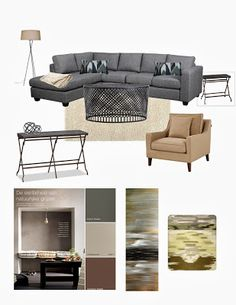 Right Color Couch, Right Color Chair (for The Love Seat) And A Round Table