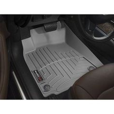 WeatherTech Custom Fit Front FloorLiner for Honda Pilot, Grey - gray