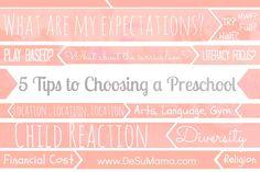 5 Things to Consider Before Choosing a Preschool via @De Su Mama