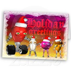Funny food robots send Holiday Greetings from Zazzle.com