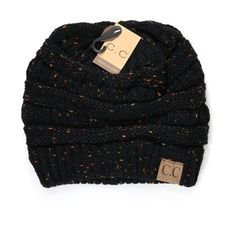 Knit CC Beanie with flecked accents acrylic 1920s Fashion Women, Black Women Fashion, Womens Fashion, Fashion 2017, Discount Womens Clothing, Plus Size Womens Clothing, Clothes For Women, Fall Cardigan, Cc Beanie
