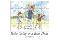 Printable jigsaw puzzle (use with We're Going on a Bear Hunt)