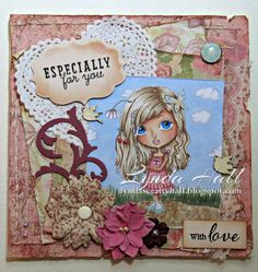 Girl with hair wrap by Julia Spiri. Card created by Lynda Hall https://www.etsy.com/uk/listing/242616480/digi-stamps-scrapbooking-printable?ref=shop_home_feat_3