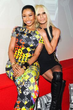 Nicki Minaj and Donatella Versace at the Anthony Vaccarello x Versus Versace Party. Our favorite snaps of who wore what from the chicest parties of #NYFW: