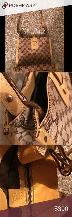 Gucci bag Tan and green medium GUCCI bag Gucci Bags Shoulder Bags