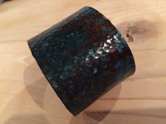 This copper cuff has been hammered and finished with a beautiful blue patina. So unique and beautiful for any occasion. $50