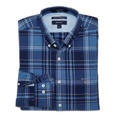 Indigo Poplin Check Shirt
