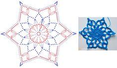 Crochet Snowflake Pattern, Crochet Snowflakes, Crochet Mandala, Crochet Art, Thread Crochet, Crochet Dolls, Crochet Flowers, Crochet Christmas Ornaments, Christmas Snowflakes